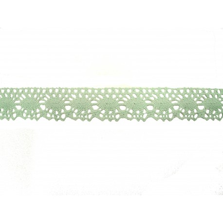 Bavlněná paličkovaná krajka 2049/22mm sv.zelená/5m