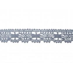 Bavlněná paličkovaná krajka 2067/27mm sv.modrá/5m