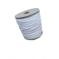 Prádlová pruženka kulatá měkká roušková průměr 2 mm bílá/100m