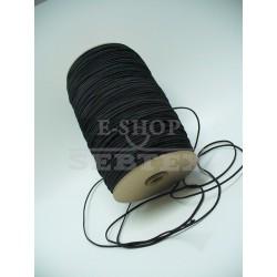 Prádlová pruženka kulatá průměr 2 mm černá