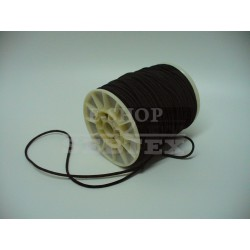 Prádlová pruženka kulatá průměr 3 mm černá