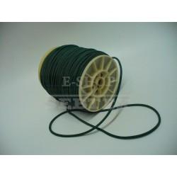 Prádlová pruženka kulatá průměr 3 mm tmavě zelená