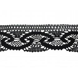 Bavlněná paličkovaná krajka 2030/60mm černá/5m