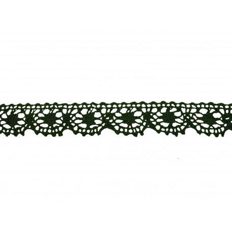 Bavlněná paličkovaná krajka 3014/25mm černošedá/5m