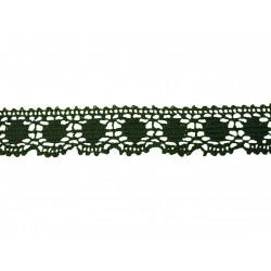 Bavlněná paličkovaná krajka 3029/30mm černošedá/5m