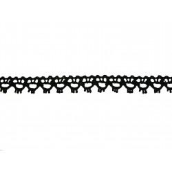 Bavlněná paličkovaná krajka 2047/15mm černá/5m