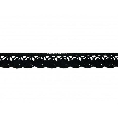 Bavlněná paličkovaná krajka 2018/20mm černá/5m