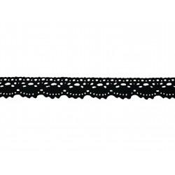Bavlněná paličkovaná krajka 2021/20mm černá/5m