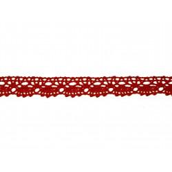 Bavlněná paličkovaná krajka 2021/20mm červená/5m
