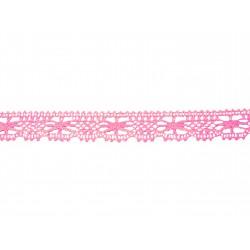 Bavlněná paličkovaná krajka 2067/27mm růžová/5m