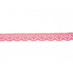 Bavlněná paličkovaná krajka2025/23mm růžová/5m