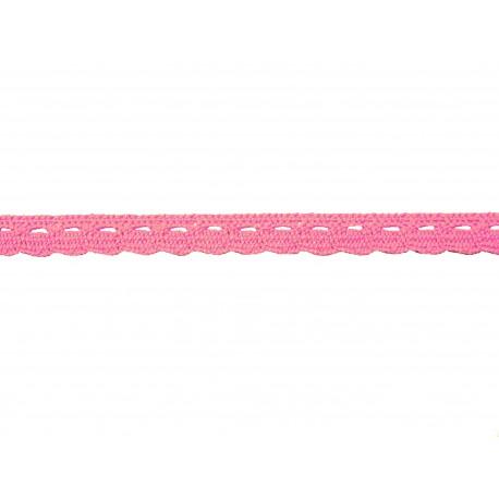 Bavlněná paličkovaná krajka2005/10mm růžová/5m
