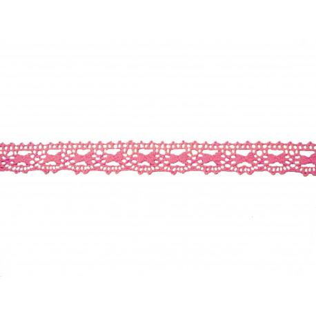 Bavlněná paličkovaná krajka 2071/20mm růžová/5m
