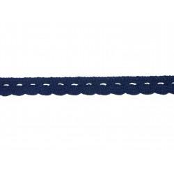 Bavlněná paličkovaná krajka 2005/10mm .tm.modrá/5m