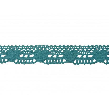 Bavlněná paličkovaná krajka 2034/25mm sv.modrá/5m