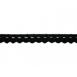 Bavlněná paličkovaná krajka 2005/10mm černá/5m