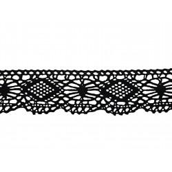 Bavlněná paličkovaná krajka 2007/40mm černá/5m