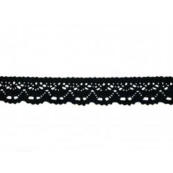 Bavlněná paličkovaná krajka 2025/23mm černá/5m