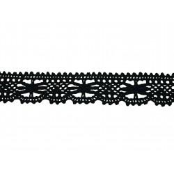Bavlněná paličkovaná krajka 2067/27mm černá/5m