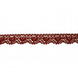 Bavlněná paličkovaná krajka 2069/20mm cihlová/5m