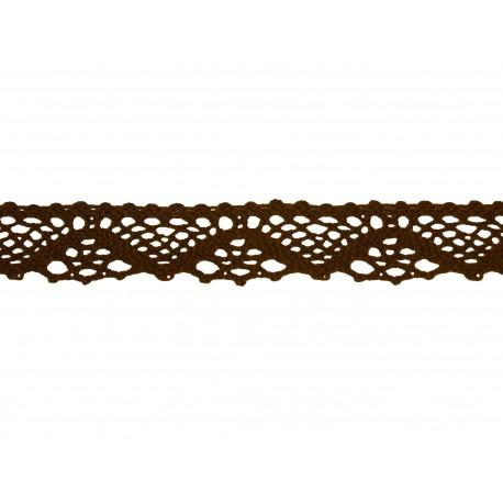 Bavlněná paličkovaná krajka 2031/25mm hnědá/5m