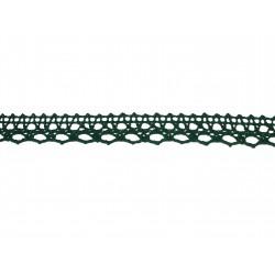 Bavlnená paličkovaná krajka 2004/15mm tm.zelená/5m