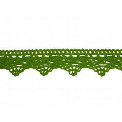 Bavlněná paličkovaná krajka 2024/30mm jarní zelená/5m