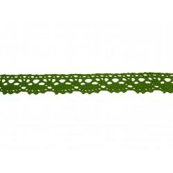 Bavlněná paličkovaná krajka 2021/20mm jarní zelená/5m