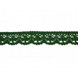 Bavlněná paličkovaná krajka 2025/23mm zelená/5m
