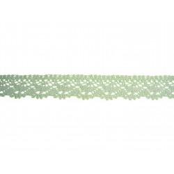 Bavlněná paličkovaná krajka 2025/23mm sv.zelená/5m