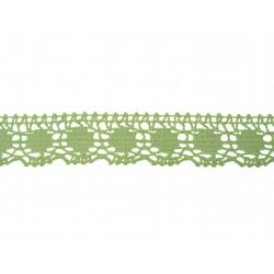 Bavlněná paličkovaná krajka 2043/30mm sv. zelená/5m