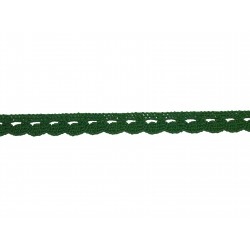 Bavlnená paličkovaná krajka 2005mm zelená/5m