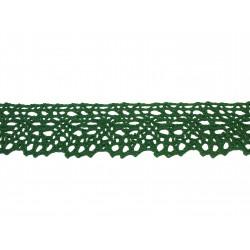 Bavlnená paličkovaná krajka 2016/35mm zelená/5m