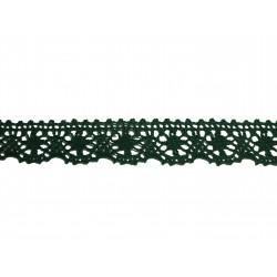 Bavlněná paličkovaná krajka 2022/25mm zelená/5m