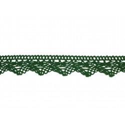 Bavlněná paličkovaná krajka 2024/32mm velikonoční zelená/5m