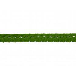 Bavlnená paličkovaná krajka 2005/10mm jarní zelená/5m