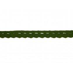 Bavlnená paličkovaná krajka 2005/10mm khaki/5m