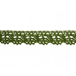 Bavlnená paličkovaná krajka 2016/35mm khaki/5m