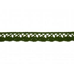Bavlnená paličkovaná krajka 2018/20mm khaki/5m