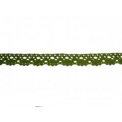 Bavlnená paličkovaná krajka 2021/20mm khaki/5m
