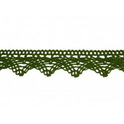 Bavlnená paličkovaná krajka 2024/32mm khaki/5m
