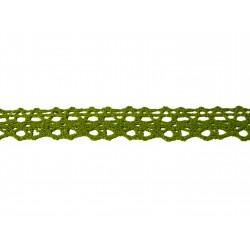 Bavlnená paličkovaná krajka 2009/15mm khaki světlá/5m