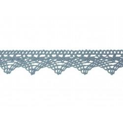 Bavlněná paličkovaná krajka 2024/32mm.světle modrá/5m