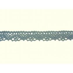 Bavlněná paličkovaná krajka 2031/25mm.světle modrá/5m