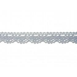 Bavlněná paličkovaná krajka 2069/20mm.světle modrá/5m