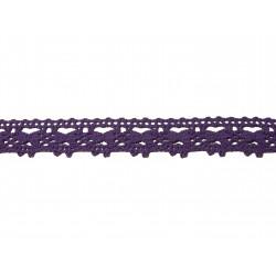 Bavlněná paličkovaná krajka 2071/20mm.modrofialová/5m