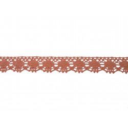 Bavlněná paličkovaná krajka 2049/22mm starorůžová/5m