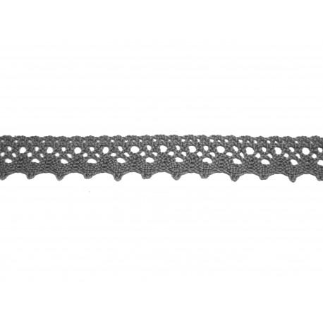 Bavlněná paličkovaná krajka 2029/20mm šedá/5m