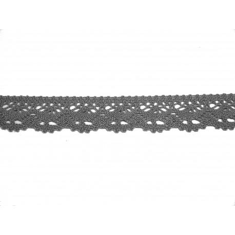 Bavlněná paličkovaná krajka 2025/23mm šedá/5m