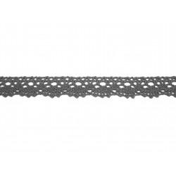 Bavlněná paličkovaná krajka 2021/20mm šedá/5m